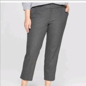 Ava & Viv Grey Ankle Pants Size 14
